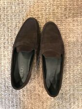 6b6c6821813 Tods Brown Suede Driving Moccasin Loafers Shoes size 37