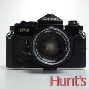 CANON F-1 MANUAL FOCUS 35mm FILM SLR CAMERA w/50mm f1.4 FD MOUNT LENS