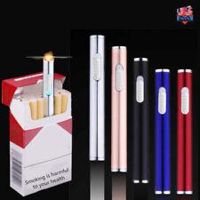 Mini Slim USB Rechargeable Lighter Electric Lighter Cigarette Alloy Windproof