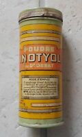 Vintage french cylindrical Shape Inotyol advertising tin box France 40s Antique