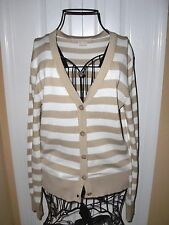 """MICHAEL KORS""Striped Button Down  Closure Cardigan Sweater size S/P SUPER CUTE!"
