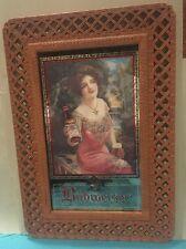 "Girl Budweiser Beer Mirror Advertising Sign 21x30"" Unused Arbor Scene 1917 Repro"