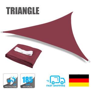 Sonnensegel WASSERDICHT Sonnenschutz Windschutz UV-Schutz Dreieck 3M 5M Rotwein