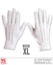 Gants Blanc XL, Magicien, Magier, Clown, Père Noël