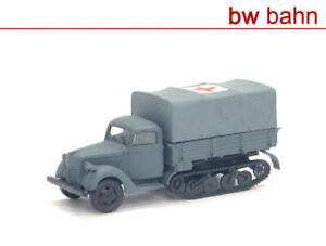 Artitec 1:87 88.006 Ford 3000 Mule Flatbed Ambulance Gray Armed Forces WWII