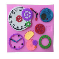Steam Punk Vintage Clock Silicone Fondant Mould Icing Cake Sugarcraft Mold.ÁÍ