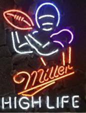 "New Miller High Life Football Neon Sign 20""x16"""