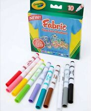 New Crayola 10 Fabric Fine Line Markers