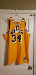 100% Authentic Shaquille O'Neal Mitchell & Ness 96/97 Lakers Jersey Size 56 XXXL