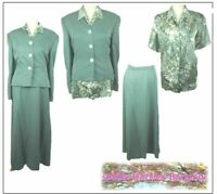 NEW Country Casuals Ladies 3 piece Outfit size 16 Green Mother of the Bride