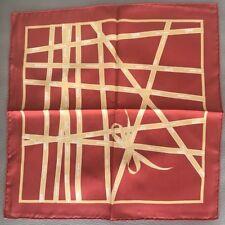 "Hermes Bolduc Ribbon Mini Scarf ""Carpe Dium"" 40x40cm In Silk"