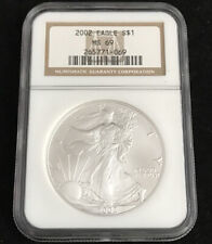 2002 American Eagle Silver Dollar NGC MINT STATE 69 MS69