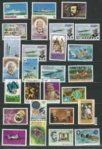 #9785 GRENADA Lot/Collection 27 Different MNH
