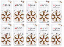 Signia hearing aid batteries (Size 312) - 10 cards (60 cells).