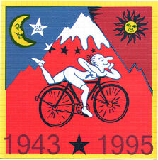 ALBERT HOFMANN LARGE RED BIKE RIDE - HIGH QUALITY BLOTTER ART - 900 SQUARES