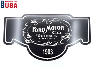 """Black Ford Motor Company Since 1903 Metal Sign - (24"""" x 13"""")"""