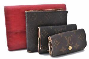 Louis Vuitton Monogram Epi Wallet Key Case Brown Red 4Set LV A5614