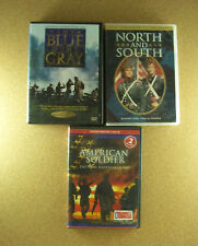 War DVDs North And South The Blue and the Gray  American Soldier National Guard