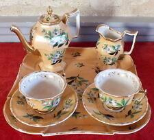 dejeuner service tete a tete cafe porcelaine avec plateau coffee tea cup