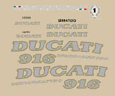 DUCATI 916 DESMOQUATTRO '94 '97 SERIE ADESIVI CARENA ROSSO STICKERS