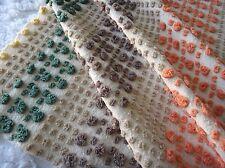 Morgan Jones Neutral Candy Stripes Vintage Chenille Bedspread Fabric 24x24in FQ