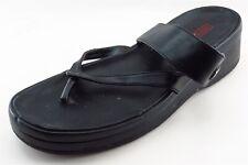 Harley-Davidson Flip Flops Black Synthetic Women Shoes Size 9 Medium (B, M)