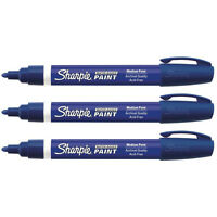 Sharpie Water-Based Poster Paint Marker, Medium Point, Blue, 3 Packs