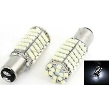 120SMD WHITE LED #1157 Tail Light Rear Brake Stop Turn Signal Lamp 12V Bulb Pair
