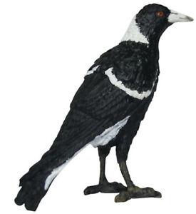 Magpie Replic Small Toy Australian Bird Figure Model Animals of Australia