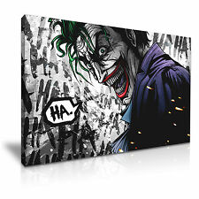 Il JOKER ettari DC COMICS BATMAN CARTOON CANVAS WALL ART PICTURE PRINT 76x50cm