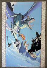 affiche lereculey dragon arthur 57/444 signé 2001one flash