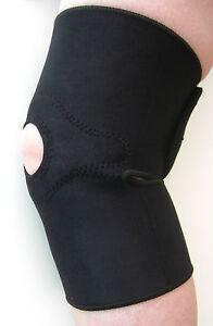 Magnetic Knee Support Brace Neoprene Open Patella Arthritis Pain Sport M or L