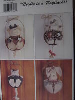 Vintage Butterick SEWING Pattern 3521 CRAFT Pig Cow Cat Bunny UNCUT OOP SEW FF