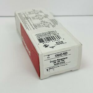 Pass & Seymour IG5362-Red IG5362 Red Duplex Receptacle W/Isolated Grnd 20A ~NEW~