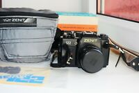 VERY RARE ZENIT-122 EXPORT Soviet SLR film camera w/s lens MC HELIOS 44M-5 SUPER