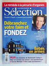 SÉLECTION DU READER'S DIGEST DE JANVIER 2004, EN COUVERTURE YANN MARTEL