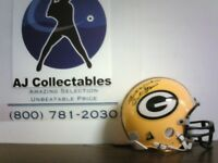 Bart Starr Green Bay Packers NFL Autographed Riddell Mini Helmet W/COA