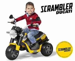 Ducati Scrambler 6v Electric Ride On Bike By Peg Perego
