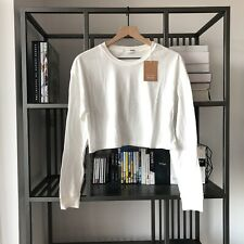 Reformation Jaxon White Crop Long Sleeve T Shirt Brand New Size XS