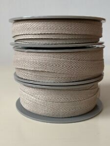 French Linen Herringbone Twill Ribbon Tape Sewing Craft - Per Metre
