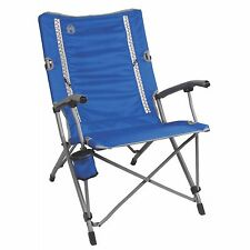 Coleman Outdoor Camping Folding ComfortSmart InterLock Suspension Chair, Blue