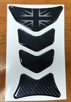 5D Carbon UK Fibre effect Motorcycle Tank Protector Sticker HIGH GLOSS DOMED GEL