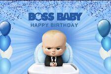 Boss Baby Happy Birthday Backdrop Background Party Celebration