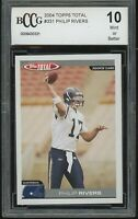 2004 topps total PHILIP RIVERS rookie BGS BCCG 10