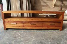 local made tasmanian blackwood hardwood timber lowline tv/entertainment unit