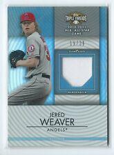 2012 Triple Threads Jered Weaver GU JERSEY RELIC 19/36 ANGELS