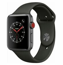Apple Watch Series 3 42mm Space Gray Case with Gray Sport Band (GPS + Cellular)