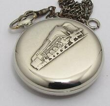 EXPORT Molnija RAILROAD Vintage USSR ANTIQUE Pocket watch 1970s TRAIN SERVICED