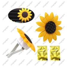 2Pc Car Air Freshener Perfume Sunflower Vent Clip Fragrance Scent Diffuser Decor