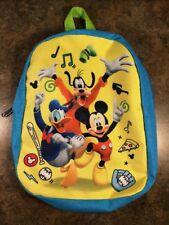 Disney Kids Backpack Mickey Donald Goofy Baseball 10x8x2.5� Small